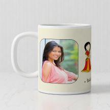 Raksha Bandhan Personalized White Mug For Raksha Bandhan -3.7in X 3.2in