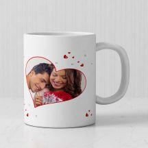 Pretty Hearts Personalized Photo White Mug