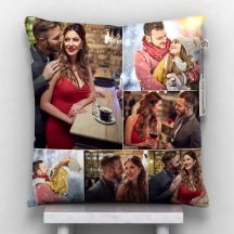 GiftsOnn 6 Photos Personalized Cushion White-12*12