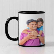 Customized Black Patch Photo Mug