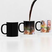 GiftsOnn Black Color Changing Magic Mug - Customized With Photo