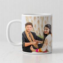 Personalized Photos Print Ceramic Mug (White, 3.7x3.2in, 320ml)