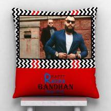Happy Raksha Bandhan Dear Bro.. Personalized Satin Pillow