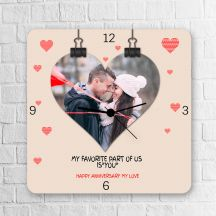 Happy Anniversary My Love Personalized Square Clock