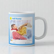 GiftsOnn Add Text with photo Personalized Mug - White
