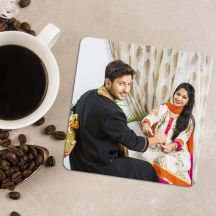 GiftsOnn Photo Personalized Square Coaster (Set of 4)