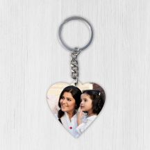 Personalized Heart Shaped Wooden Key Ring