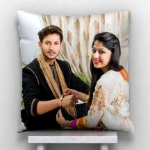Photo Personalized Satin Pillow - White,12*12 inch