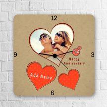 Happy Anniversary My Love Personalized Square Clock