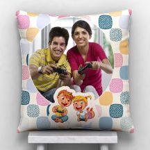 Personalized Photo Satin Pillow/Cushion- White, 12*12