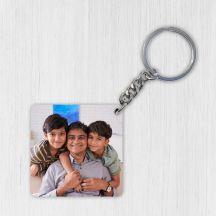 GiftsOnn Customized Wooden Photo Key ring