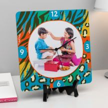 Raakhi Personalized Square Wooden clock