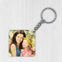 Mdf Photo Key Chain - Square Shaped