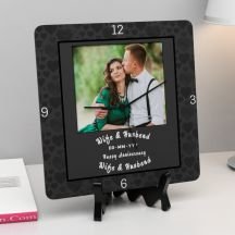 Happy Anniversary With Date Square Personalized Clock