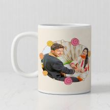 Happy Raksha Bandhan Personalized White Mug