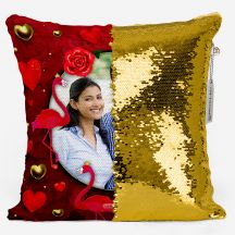 GiftsOnn Gold Sequin Personalized Magic Pillow