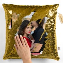 Personalized Photo Gold Magic Cushion/Pillow with 1 Photo