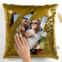 GiftsOnn Magic Pillow Photo Printed 12x12 Cushion with Filler