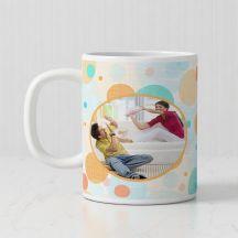 Personalized White Mug For Raksha Bandhan -3.7in X 3.2in