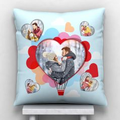 GiftsOnn 5 photos Personalized Satin Cushion with cover - White