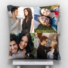 GiftsOnn 4 Photos Personalized Cushion White-12*12