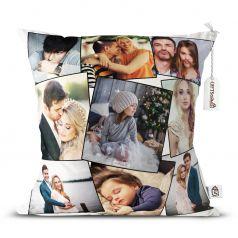 GiftsOnn 9 Photos Personalized Cushion White-12 * 12