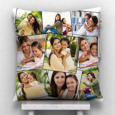 Customized White 9 Photos Satin pillow, 12*12